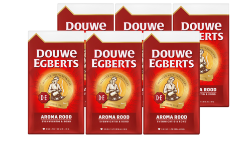 KOFFIE.Rood Snelfilter TRAY 6x500gram Douwe Egberts