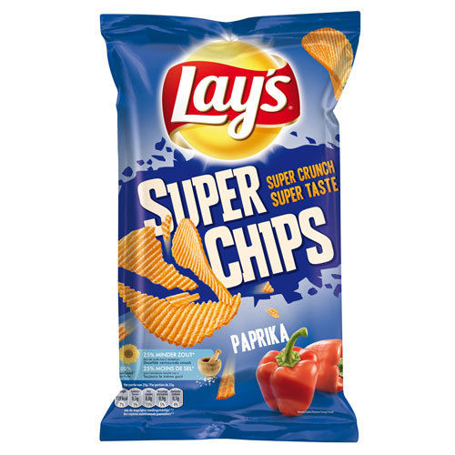 CHIPS.Paprika SUPERCHIPS 215gram Lay's