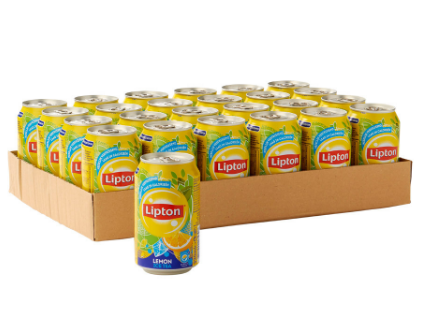 FRIS.Lipton Ice Tea No-Bubble Lemon Blik/Tray 24x33cl.