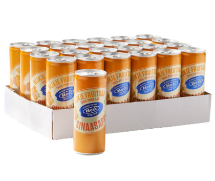FRIS.Jus d'orange Blik/Tray 24x25cl Hero