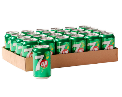 FRIS.Seven Up Blik/Tray 24x33cl.