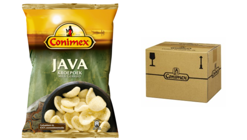 CHIPS.Kroepoek JAVA 12x75gram Conimex