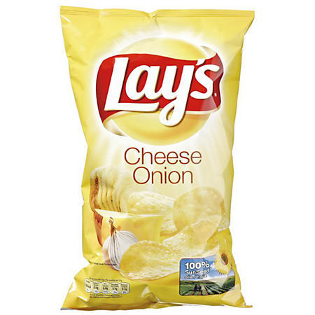 CHIPS.Cheese Onion Zak 225gram Lay's