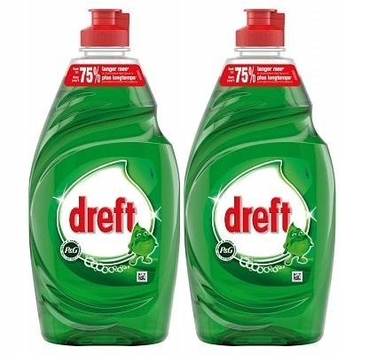 REIN.Dreft Afwas Groen Tray 2 x 890 ML.