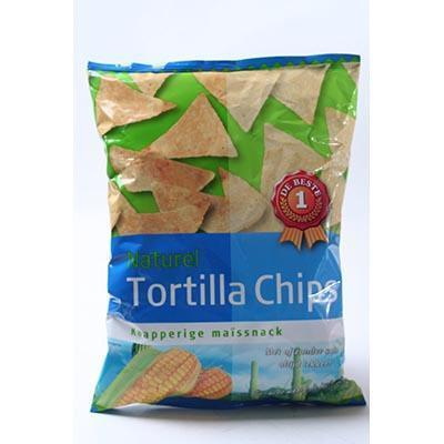 CHIPS.Tortilla Naturel Zak 165gram DB
