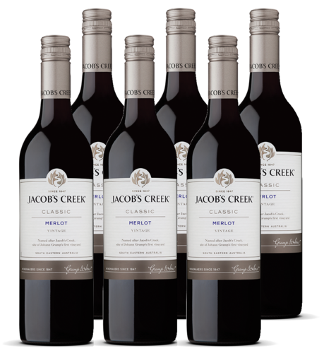 WIJN.Jacob's Creek Merlot 6x75cl.
