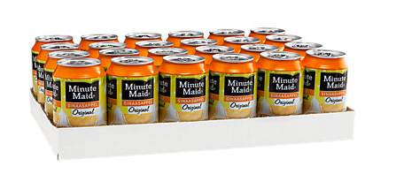 FRIS.Minute Maid Orange Blik/Tray 24x33cl.