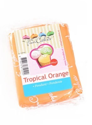 FOOD.Rolfondant Tropical Orange 250gram FunCakes