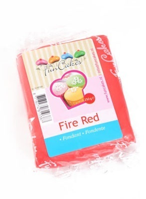 FOOD.Rolfondant Fire Red 250gram FunCakes