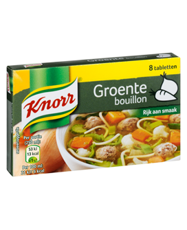 FOOD.GroenteBouillon TABLET 8stuks KNORR