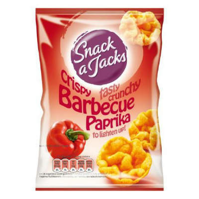 CHIPS.Snack-A-Jack Mini/Rood 8x30gram