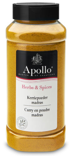 FOOD.Kerriepoeder Madras Bus 425gram Apollo
