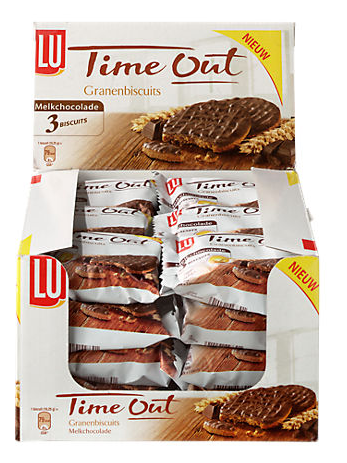 KOEK.Time Out Granenbiscuits CHOCO 24x3stuks LU