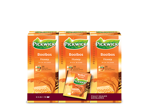 THEE.Rooibos Honing 3x25zakjes PickWick
