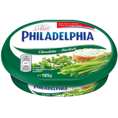 KAAS.Philadelphia Bieslook Light Bakje 185gram