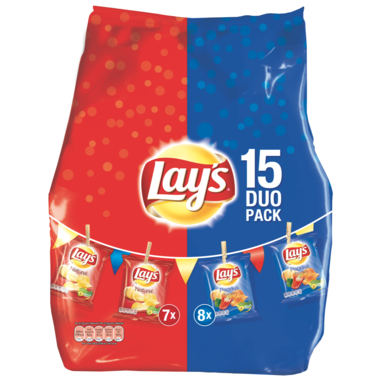 CHIPS.MixPack Duo 15zakjes Lay's