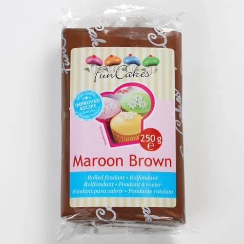FOOD.Rolfondant Maroon Brown 250gram FunCakes