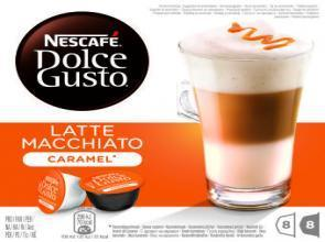KOFFIE.Dolce Gusto Latte Macchiato Caramel 8+8cups