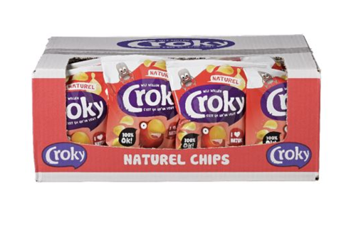 CHIPS.Croky Naturel 20x40gram