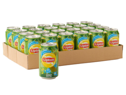 FRIS.Lipton Ice Tea Green Pure Blik/Tray 24x33cl.